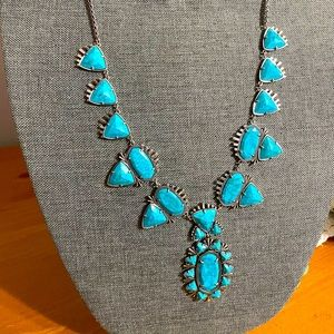 NWT HTF Kendra Scott Silver Turquoise Havana